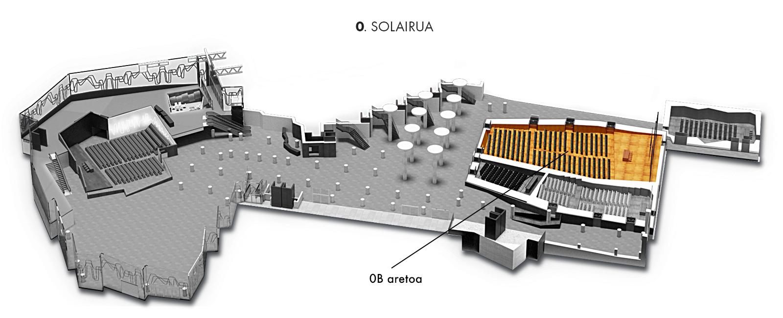 0B aretoa, 0. solairua | Palacio Euskalduna Jauregia