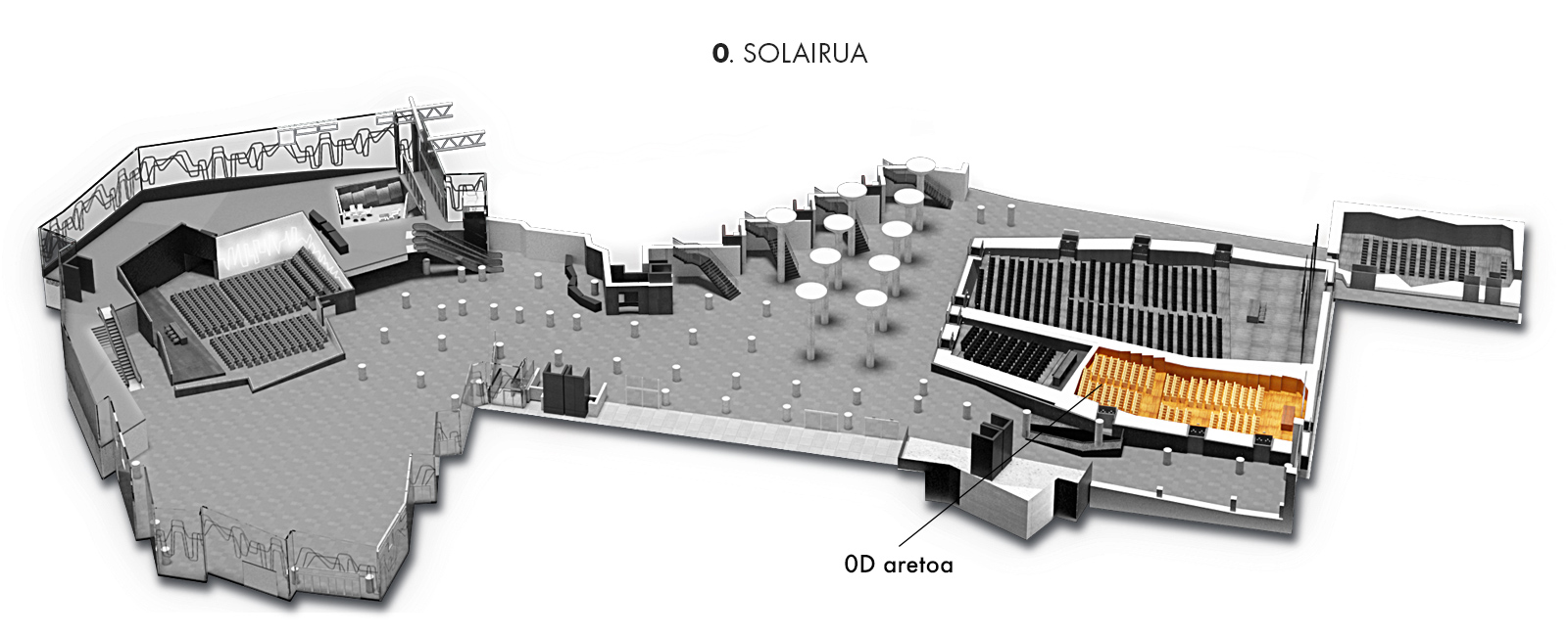 0D aretoa, 0. solairua   Palacio Euskalduna Jauregia