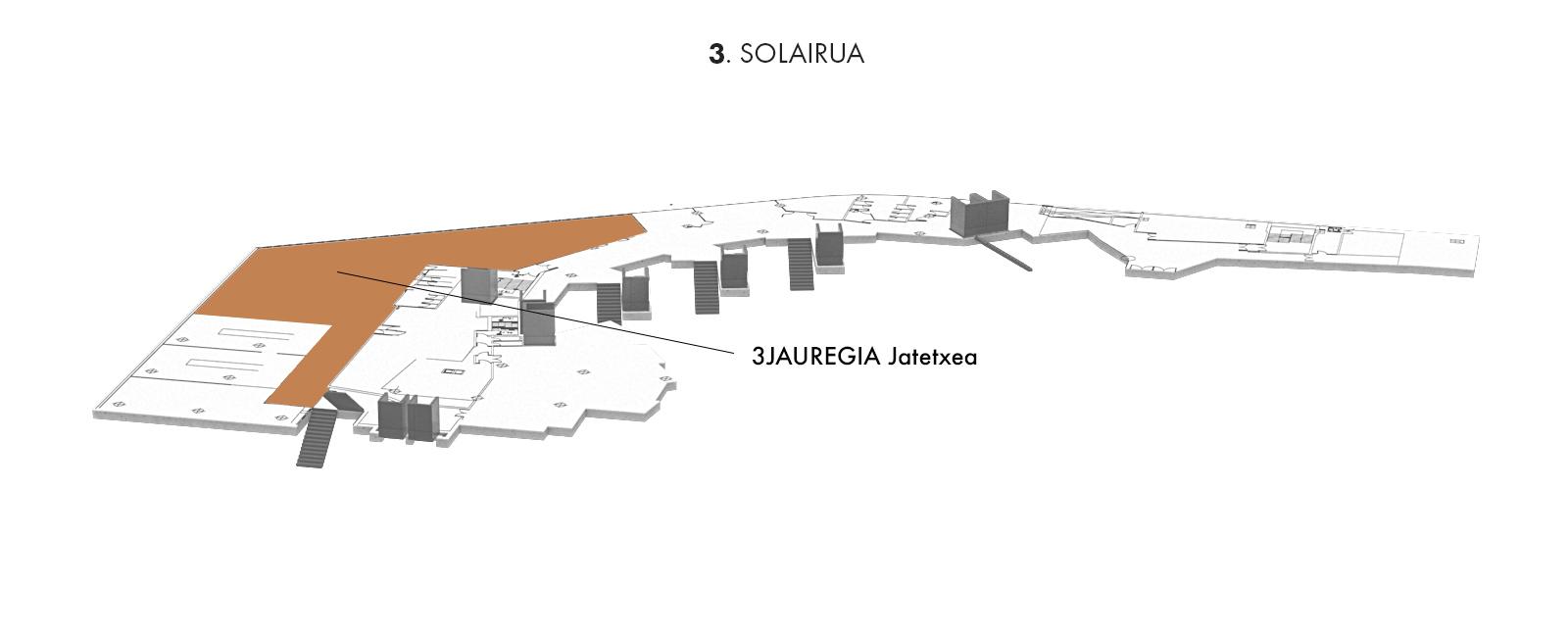 3JAUREGIA jatetxea, 3. solairua | Palacio Euskalduna Jauregia