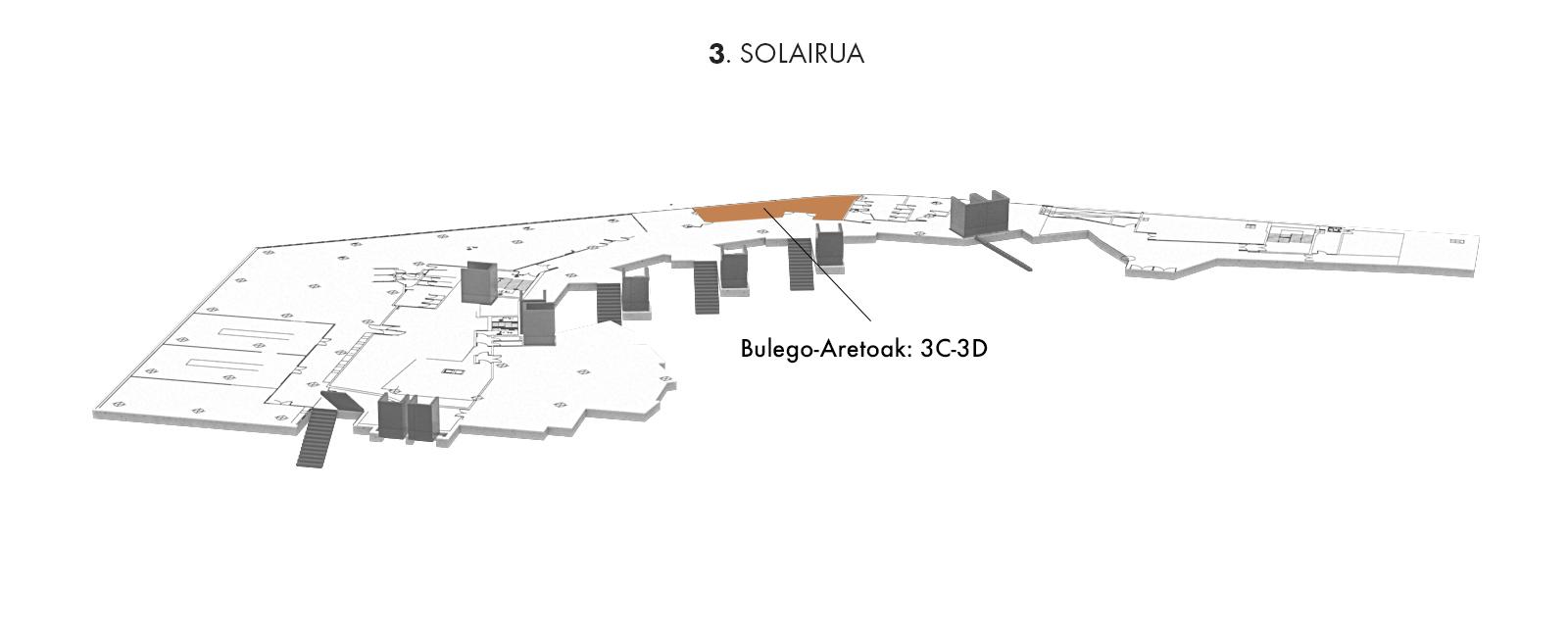 Bulego-Aretoak: 3C-3D, 3. solairua   Palacio Euskalduna Jauregia