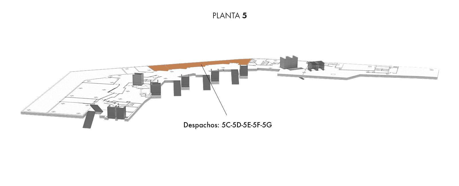 Despachos: 5C-5D-5E-5F-5G, Planta 5 | Palacio Euskalduna Jauregia