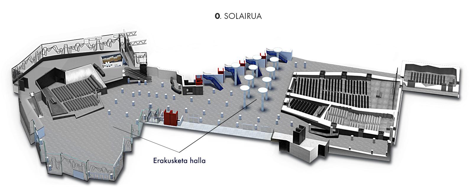 Erakusketa halla, 0. solairua   Palacio Euskalduna Jauregia
