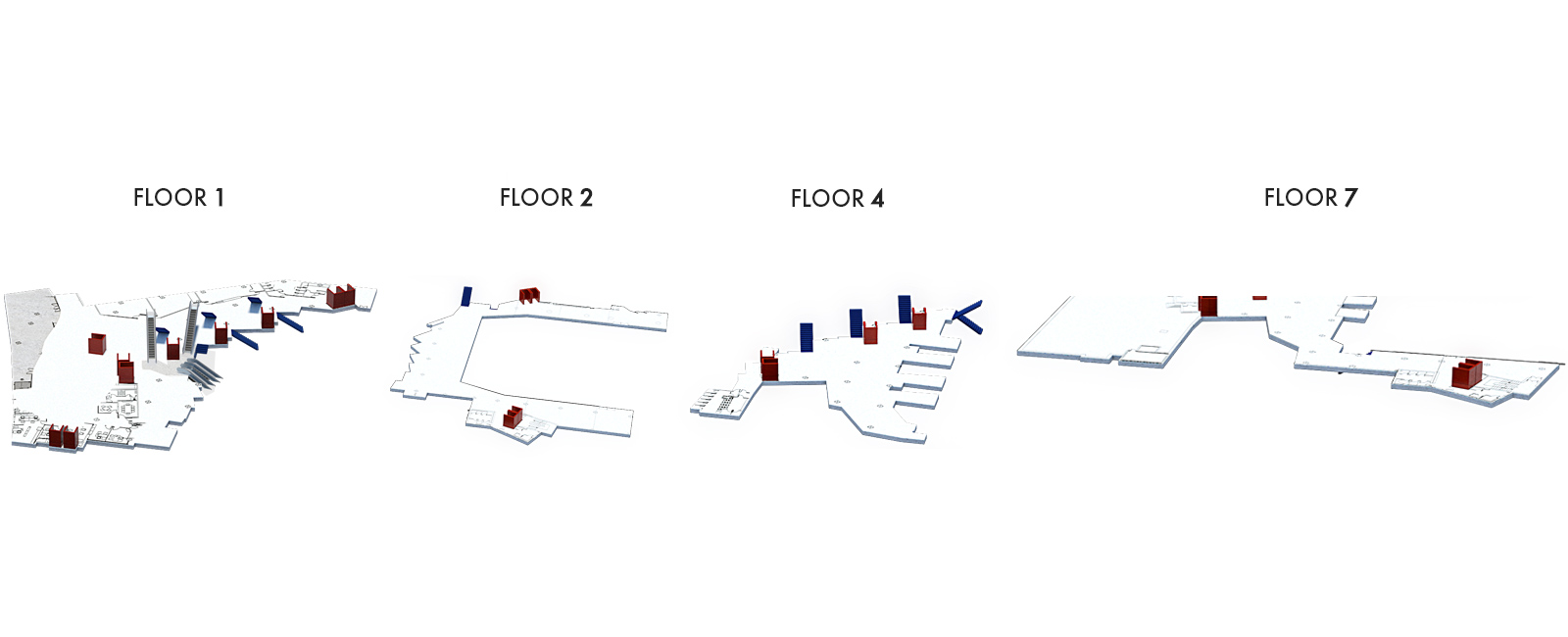 Foyers and Hall 1 Office, Floors 1, 2, 4 and 7 | Palacio Euskalduna Jauregia
