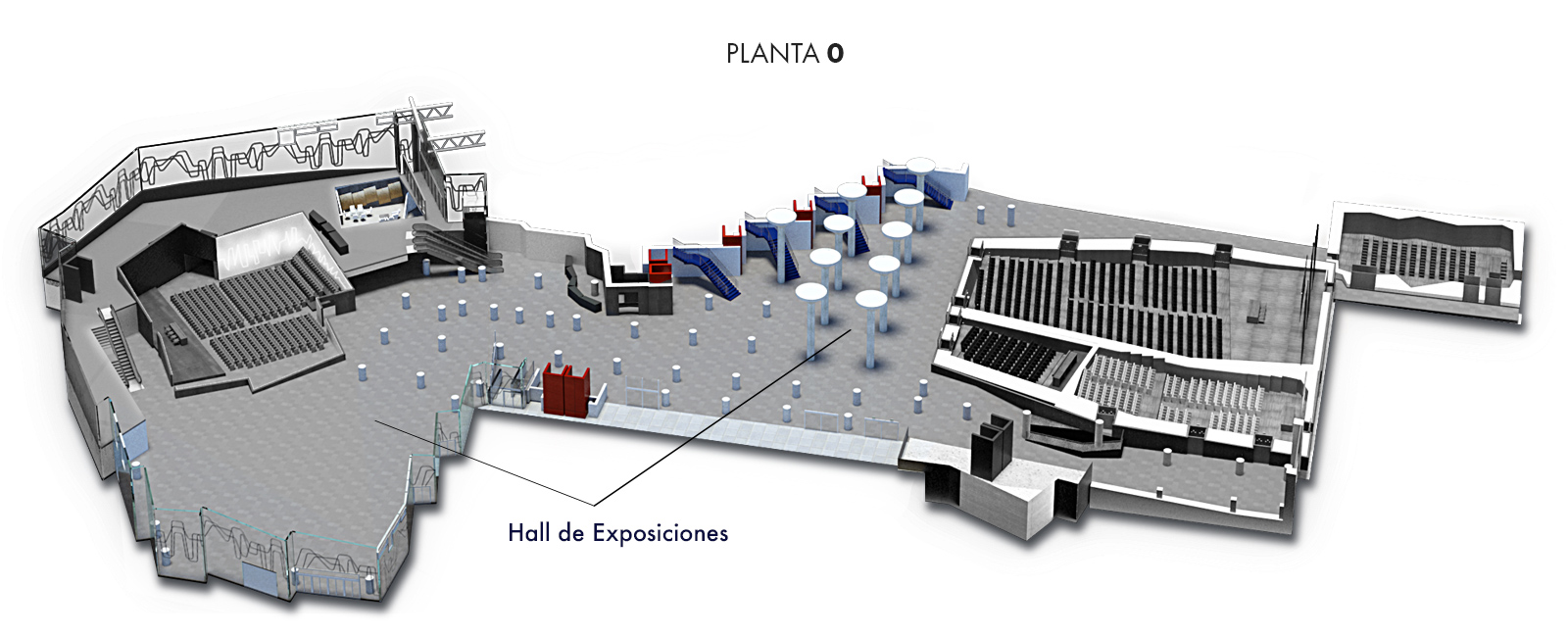 Hall de Exposiciones, Planta 0 | Palacio Euskalduna Jauregia