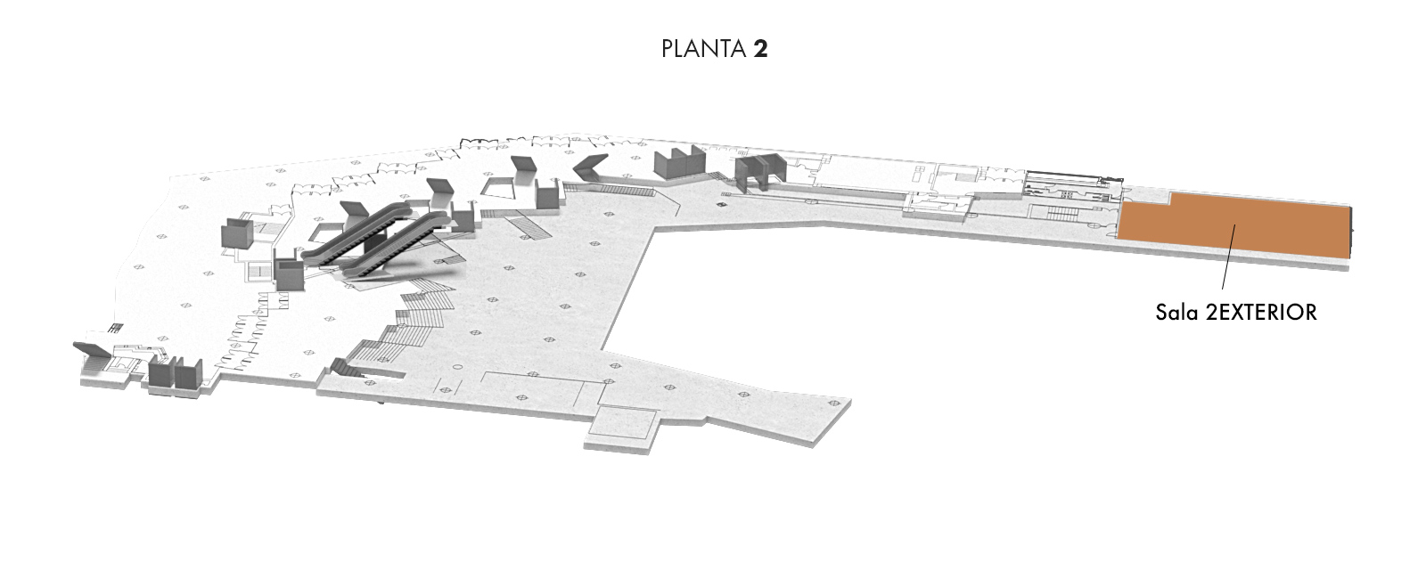 Sala 2EXTERIOR, Planta 2   Palacio Euskalduna Jauregia