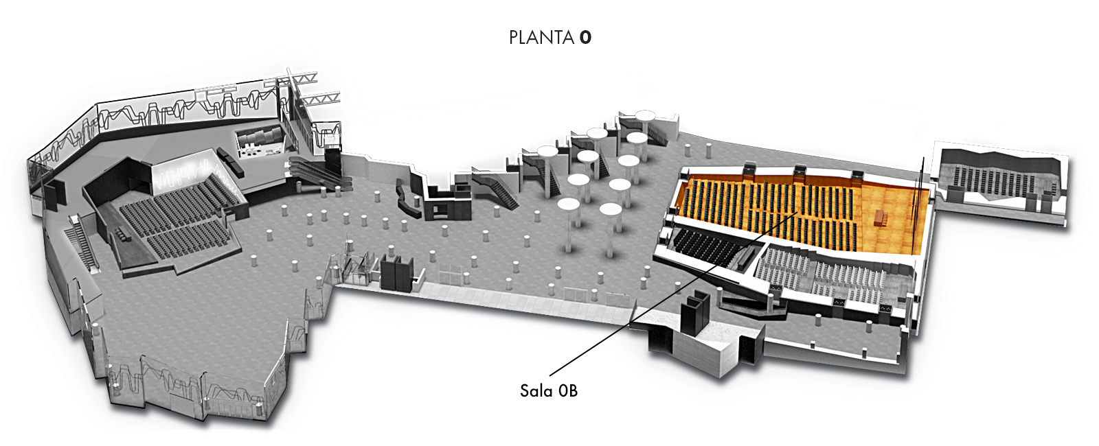 Sala 0B, Planta 0 | Palacio Euskalduna Jauregia