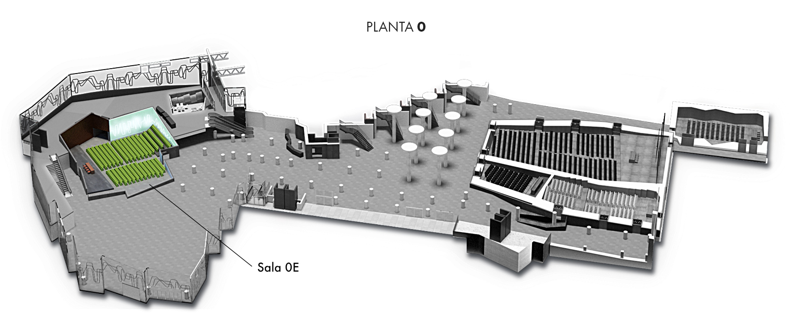 Sala 0E, Planta 0 | Palacio Euskalduna Jauregia