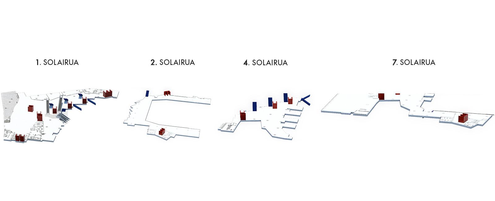 Foyerrak eta 1. Halla Bulegoa, 1, 2, 4 eta 7 solairuak | Palacio Euskalduna Jauregia